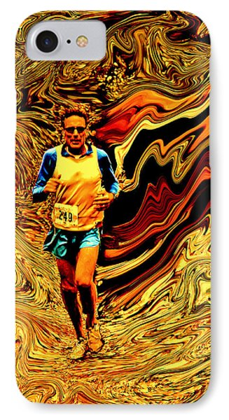 Psycho Run IPhone Case by Michael Nowotny