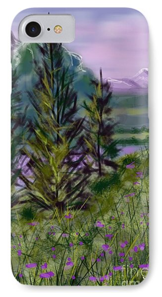 ptg.  Mountain Meadow Pond IPhone Case by Judy Via-Wolff