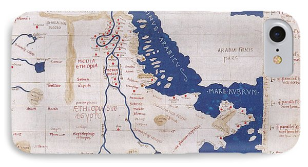 Ptolemys Map Of The Nile 2nd Century Phone Case by Photo Researchers