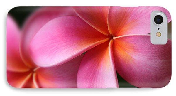 IPhone Case featuring the photograph Pua Lei Aloha Cherished Blossom Pink Tropical Plumeria Hina Ma Lai Lena O Hawaii by Sharon Mau