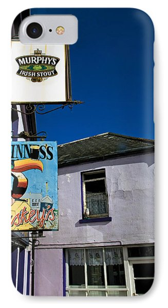 Pub Signs, Eyeries Village, Beara IPhone Case by Panoramic Images