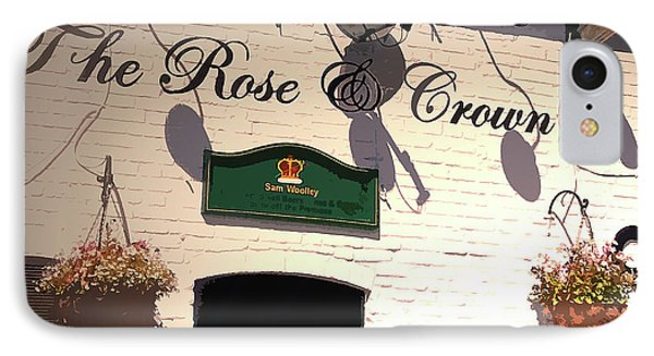 Public House At Boylestone - Detail, This Traditional Pub IPhone Case by Litz Collection