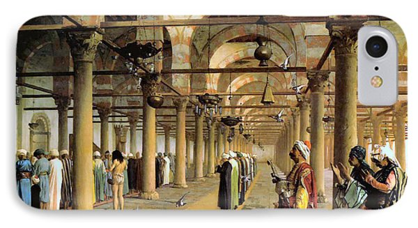 Public Prayer In The Mosque  Phone Case by Jean Leon Gerome