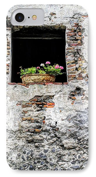 Puebla Window Flowers IPhone Case by Craig T Burgwardt