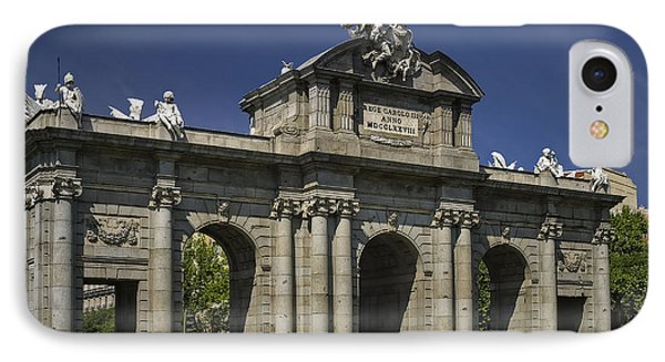 Puerta De Alcala Madrid Spain IPhone Case