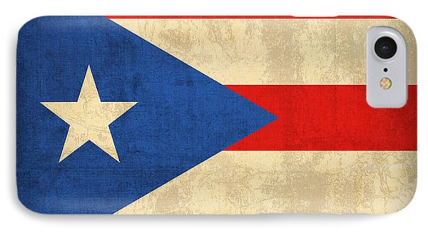 Puerto Rico Flag Vintage Distressed Finish IPhone Case by Design Turnpike