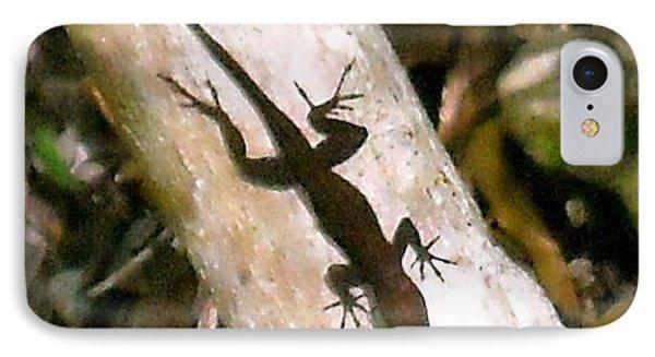 IPhone Case featuring the photograph Puerto Rico Lizard by Daniel Sheldon