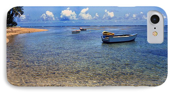 Puerto Rico Luquillo Beach Fishing Boats Phone Case by Thomas R Fletcher