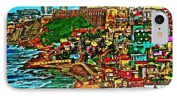 Old San Juan Puerto Rico Walled City IPhone Case by Carol F Austin