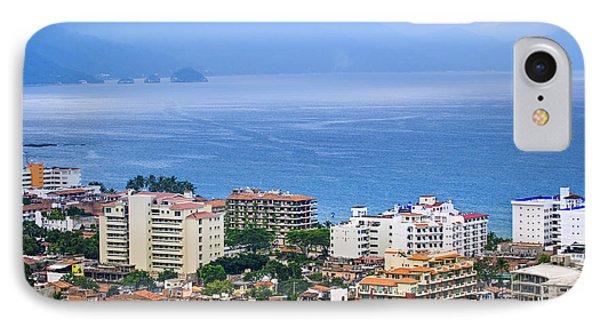 Puerto Vallarta And Blue Ocean IPhone Case by Elena Elisseeva