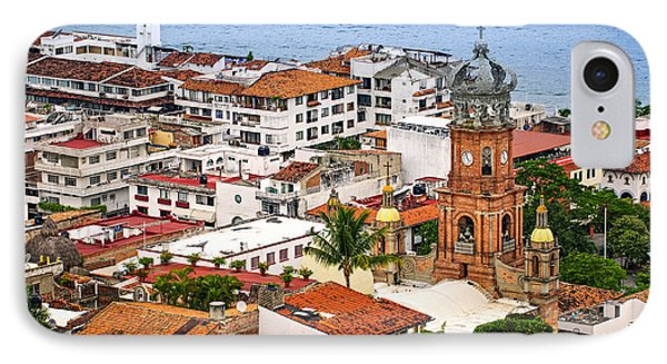 Puerto Vallarta Rooftops IPhone Case by Elena Elisseeva