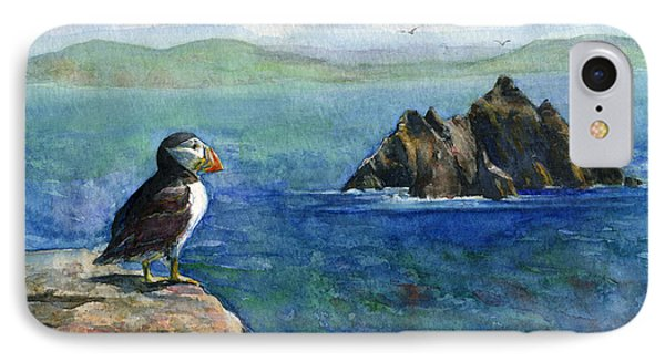Puffin At Skellig Island Ireland IPhone Case