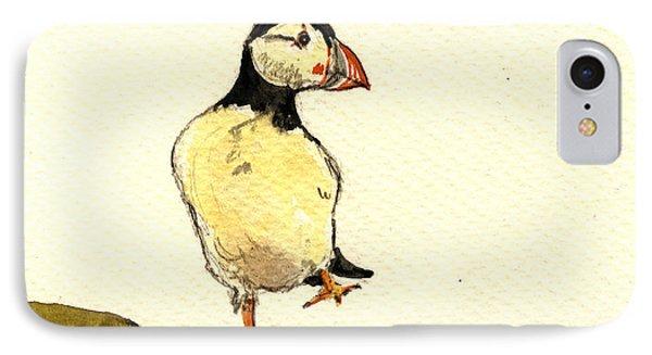 Puffin Bird IPhone Case by Juan  Bosco