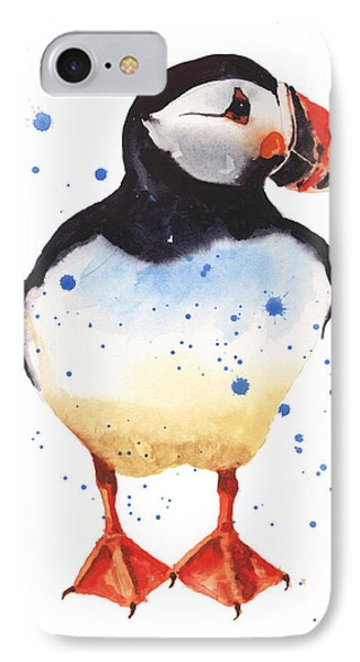 Puffin Watercolor IPhone Case by Alison Fennell