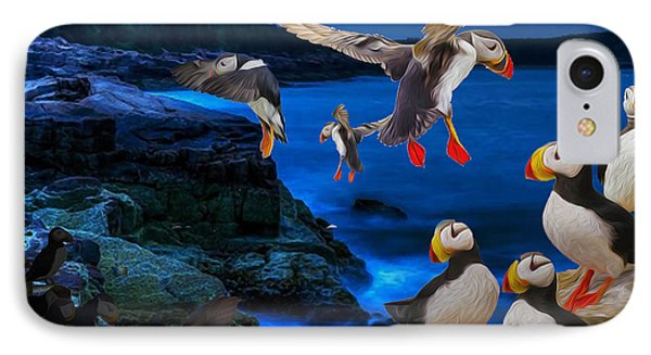 Puffins Bedding Down IPhone Case