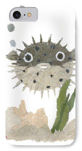 Blowfish Art Phone Case by Keiko Suzuki