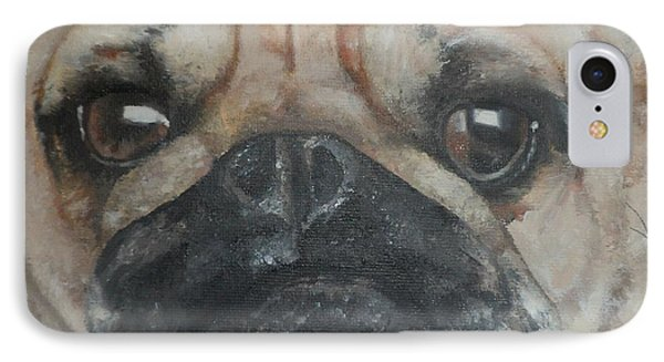 IPhone Case featuring the painting PuG by Cherise Foster