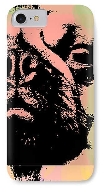 Pug Pop Art IPhone Case by Jean luc Comperat