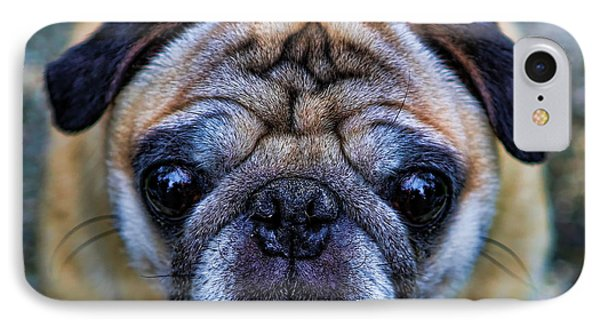 Pug - Man's Best Friend IPhone Case by Lee Dos Santos