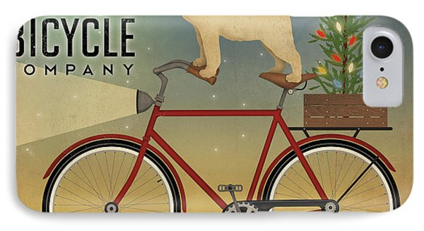 Pug On A Bike Christmas IPhone Case by Ryan Fowler