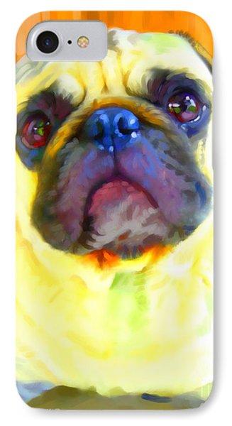 Pug Painting Phone Case by Iain McDonald
