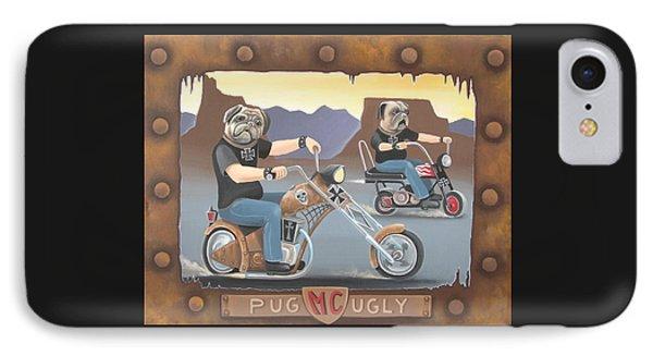 Pug Ugly M.c. IPhone Case by Stuart Swartz