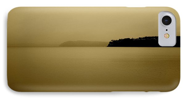IPhone Case featuring the photograph Puget Sound In Sepia by Kandy Hurley