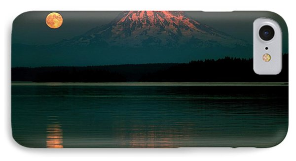 Puget Sound Moonrise IPhone Case by Benjamin Yeager