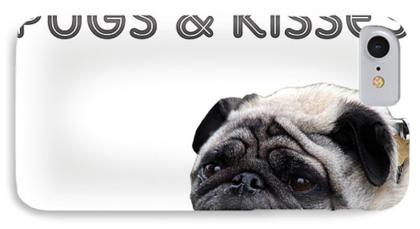 Pugs And Kisses IPhone Case by Celestial Images
