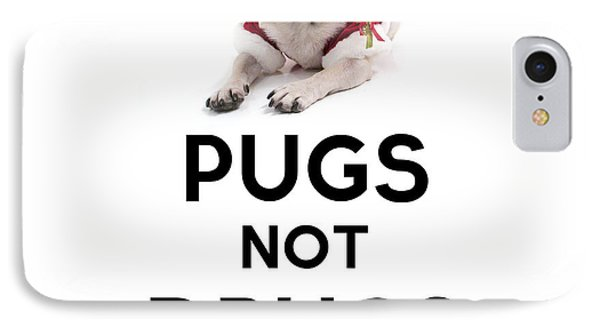 Pugs Not Drugs IPhone Case by Celestial Images