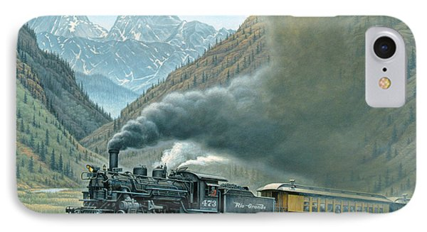 Landscapes iPhone 7 Case - Pulling For Silverton by Paul Krapf