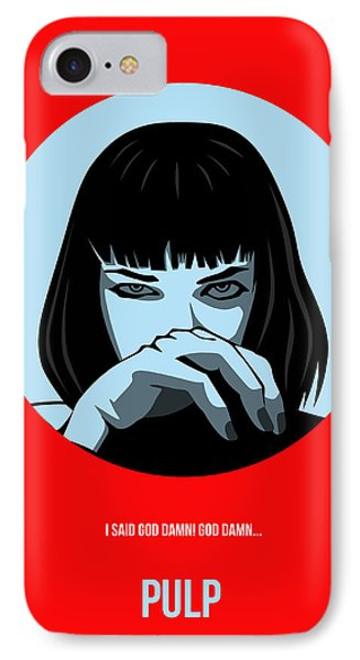 Pulp Fiction Poster 3 IPhone Case by Naxart Studio