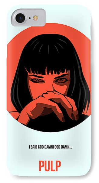 Pulp Fiction Poster 4 IPhone Case by Naxart Studio