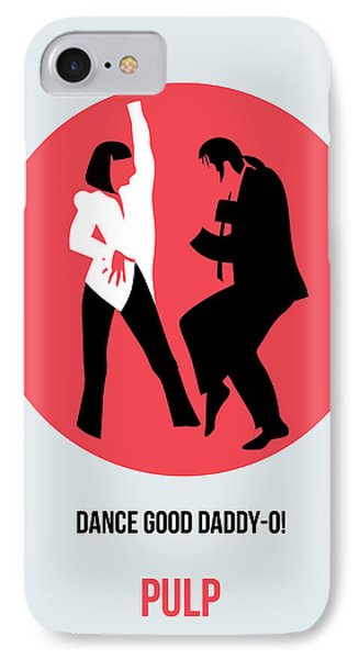 Pulp Fiction Poster 5 IPhone Case by Naxart Studio