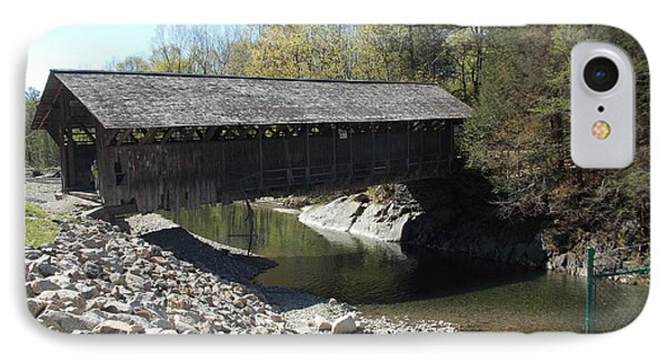 Pumping Station Covered Bridge IPhone Case by Catherine Gagne