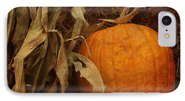 Pumpkin And Cornstalks IPhone Case