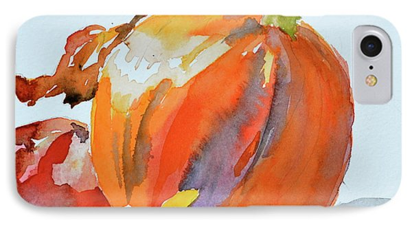 IPhone Case featuring the painting Pumpkin And Pomegranate by Beverley Harper Tinsley