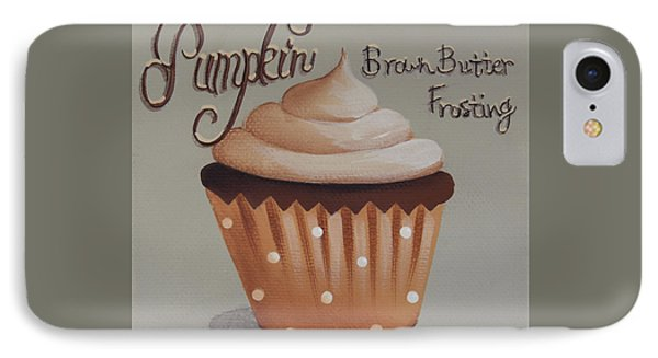 Pumpkin Brown Butter Frosting Cupcake Phone Case by Catherine Holman