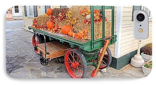Pumpkin Cart IPhone Case by James Potts