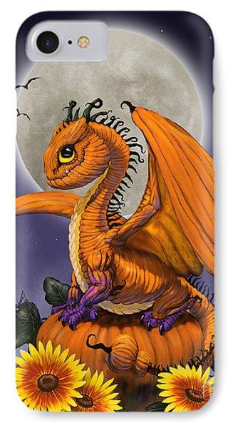 Pumpkin Dragon IPhone Case by Stanley Morrison