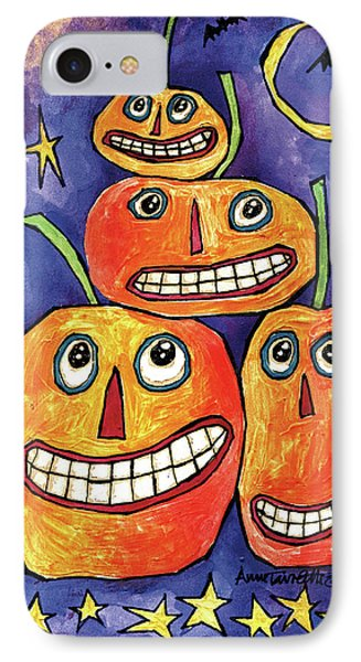 Pumpkin Family IPhone Case by Anne Tavoletti