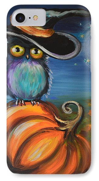 IPhone Case featuring the painting Owl Bewitch You by Agata Lindquist