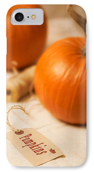 Pumpkin Label IPhone Case