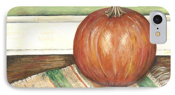 Pumpkin On A Rag Rug IPhone Case