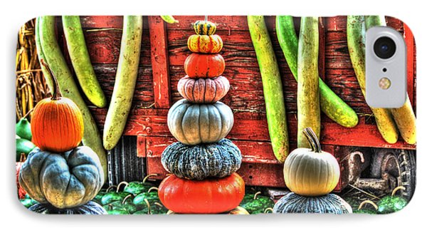 IPhone Case featuring the digital art Pumpkins And Gourds by Linda Segerson