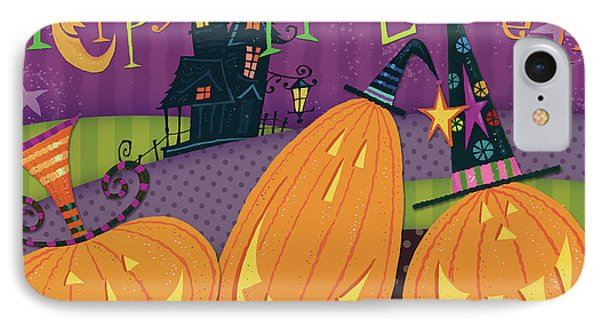 Pumpkins Night Out - Happy Halloween IPhone Case by Pela Studio
