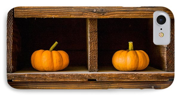 Pumpkins On Display IPhone Case by Dawn Romine