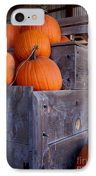 Pumpkins On The Wagon Phone Case by Kerri Mortenson