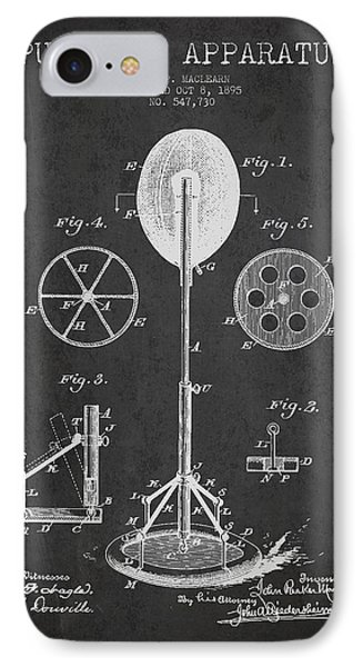 Punching Apparatus Patent Drawing From1895 Phone Case by Aged Pixel
