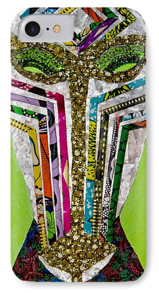 IPhone Case featuring the tapestry - textile Punda Milia by Apanaki Temitayo M